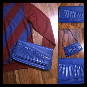 🦋2/$10 or 5/$20 Vintage Blue 70s Purse
